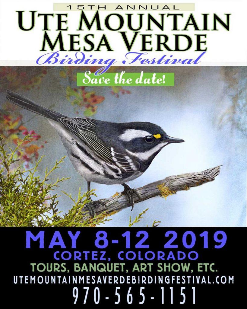 2019 Ute Mountain Mesa Verde Birding Festival postcard